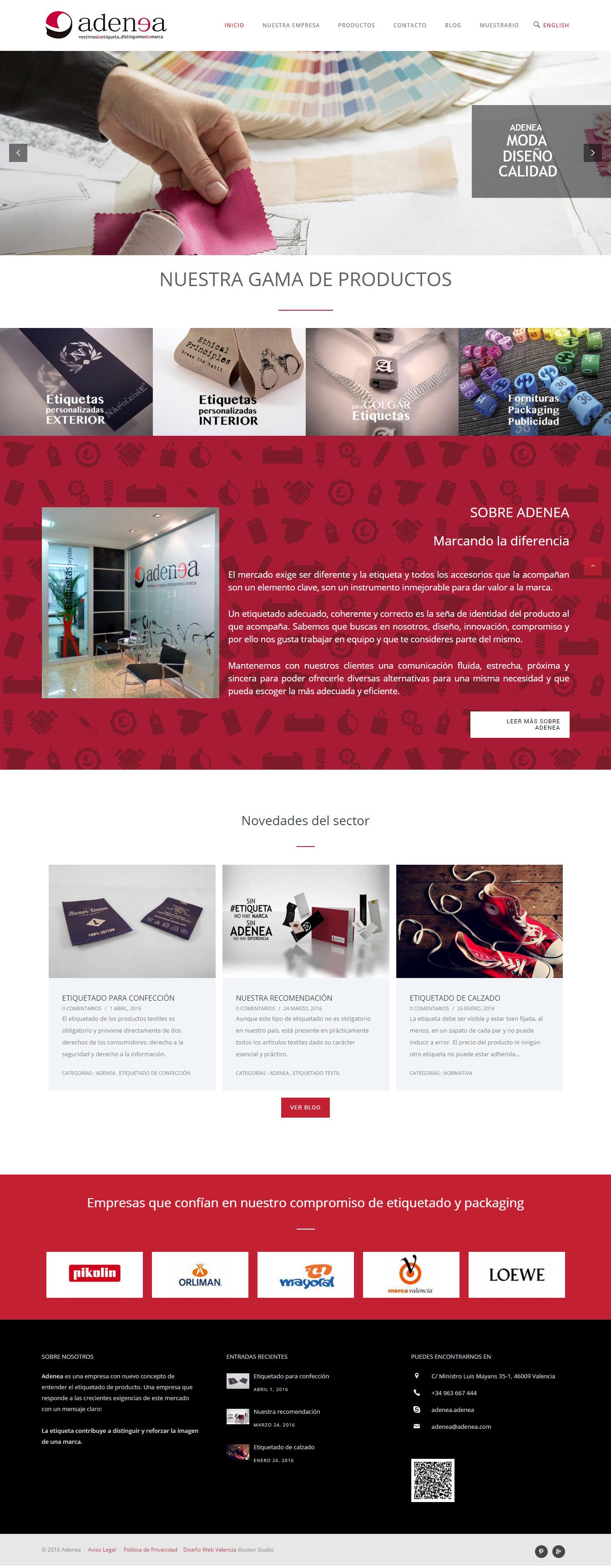 Proyecto de Diseño Web Adenea imagen 3